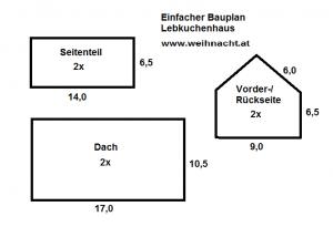 Bauplan Lebkuchenhaus