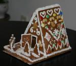 weihnachtsdekoration  Lebkuchenhaus selber bauen
